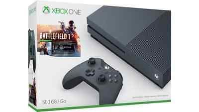 Microsoft Xbox One S Battlefield 1 Gala Edition Bundle (500GB)  - Storm Gray
