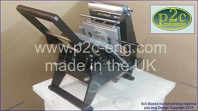 "Hot foil stamping machine 8x5"" print area using magnesium printing plates"