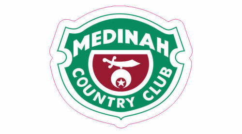 "Medinah Country Club Golf Logo Decal - 2.5"" x 2.5"""
