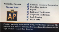 Accounting Professional- Accounting and Tax Services