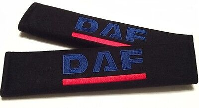 2x soft car seat belt harness cushion cover pads for DAF lorry truck (UK stock)