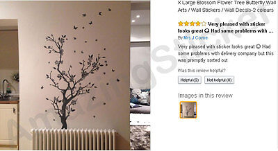 Blossom Flower Tree Butterfly Wall Arts / Wall Stickers / Wall Decals