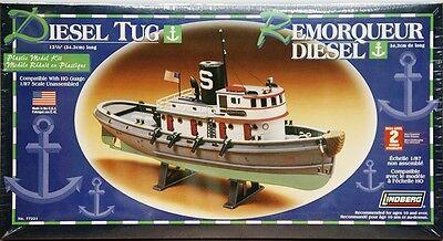 Lindberg Diesel Harbor Tug Boat model kit 1/87