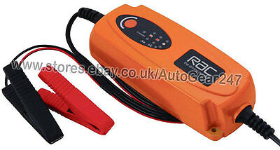 RAC 12v 1.2Ah-120Ah Smart Intelligent Automatic Car Van Bike Battery Charger , used for sale  Shipping to South Africa