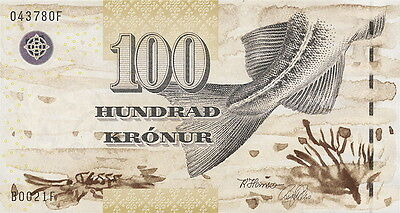 Färöer Inseln / Faeroe Islands 100 Kronen (20)02 Pick 25 (1)