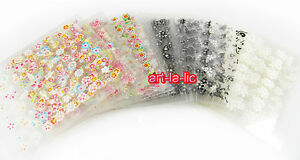 50-X-Sheets-3D-Design-Nail-Art-Sticker-Tips-Decal-Flower-Manicure-Stickers-New