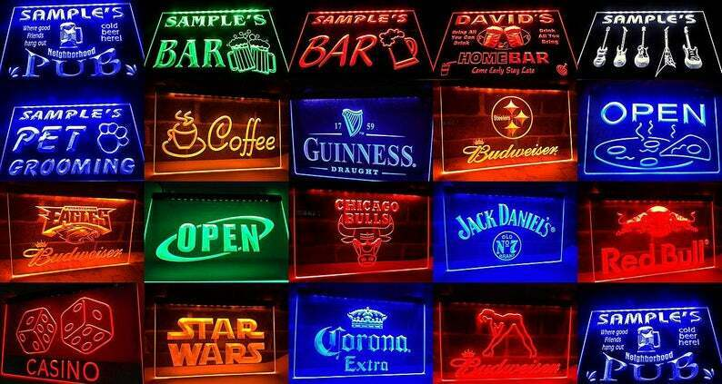 Neon Light Sign Corona Extra Beer Pub Bar