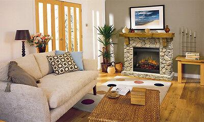 Fieldstone Rustic Electric Fireplace Mantel Package (Rustic Electric Fireplaces)