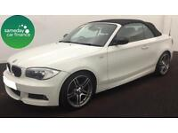 £197.62 PER MONTH WHITE 2012 BMW 118D 2.0 SPORT PLUS CONVERTIBLE MANUAL