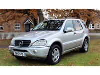 MERCEDES ML270 CDI AUTO 51PLATE 10MONTHS MOT NEW TYRES AMG BUMPERS FULLY LOADED FULL SERVICE HISTORY