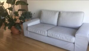 Light gray Kivik Ikea Sofa Loveseat- perfect conditions