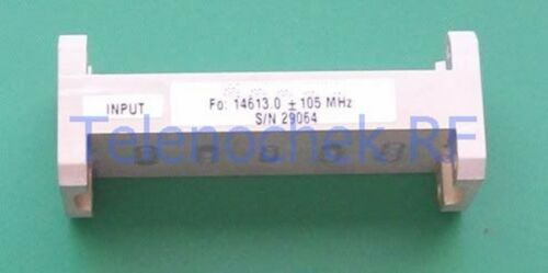 Microwave WR62 bandpass filter, 14.6 GHz / 250 MHz, tested, data