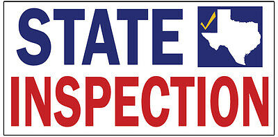 STATE INSPECTION Vinyl Banner advertising Sign. Full color 2x4 ft, 2x6, -