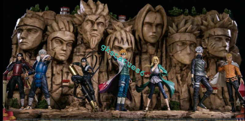 MH Studio Naruto Hokage 1-7 Uzumaki Senju Hashirama Tsunade GK Collection Statue