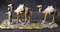 Antique Austrian Miniature Cold Painted Bronze - Arab & Camels