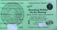 Shuswap Houseboat Raffle Tickets