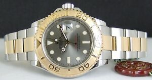ROLEX - 40mm Mens 18kt Gold & Stainless YachtMaster Ramsgate Rockdale Area Preview
