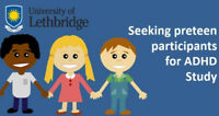 Seeking participants 6-12 years old for ADHD study!