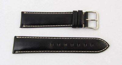 Montblanc Uhrenaband Lederband In Schwarz 20 mm