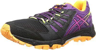 ASICS Women's Gel-Fujiattack 4 Running Shoe, Onyx/Hot Pink/Purple, 7.5 B(M) US