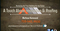 A Touch Above Renovations & Roofing
