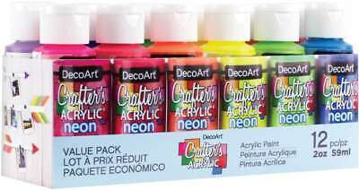 DecoArt Acrylic 2 oz 12 Count Brights Craft Paint Value Pack