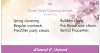 Crystal Kleen cleaning Service's! House Cleaning Done Right!