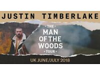 4 x Justin Timberlake - 5th July 2018 - Glasgow SSE Hydro - Standing - Exclusive