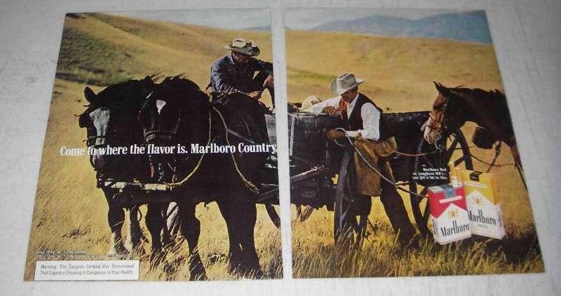 1974 Marlboro Cigarettes Ad - Marlboro Man