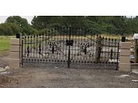 Wrough iron gates stolen