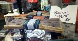 Hand Crafted Wooden Bow Ties : Blue Jar Antique Mall
