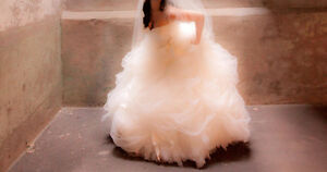 designer wedding dress... Great price compared to its original $