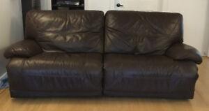 Sofa et fauteuil en cuir inclinables et électriques