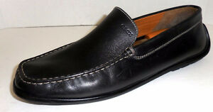 GEOX Respira Men's US 12 , EU 45 Black Leather shoes preowned