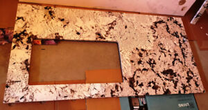 Granite Countertop Slab with Sink Opening