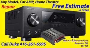 Home Theatre, Car, AV, Receiver, Amp Repair,  Repair / Service