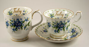 Royal Albert - Flower of the Month Series - Montrose - July - Fo