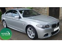 ONLY £263.20 PER MONTH SILVER 2011 BMW 520D 2.0 M SPORT 5 DOOR DIESEL MANUAL