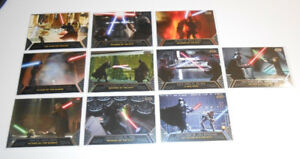 2012 Topps Star Wars Galactic Files Duels of Fate Set DF1-DF10.