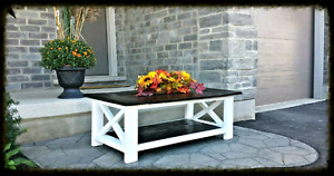 BRAND NEW SOLID WOOD CUSTOM RUSTIC COFFEE TABLE & FURNITURE!!!