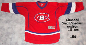 Chandail NHL Canadien 10 - 12 ans (comme neuf)