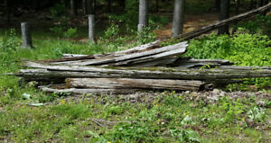 OLD CEDAR FENCING...........................FREE...YOU PICK UP