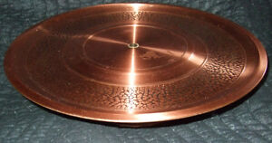"Fantasy Copperware - 15"" Elevated Platter Strathcona County Edmonton Area image 4"