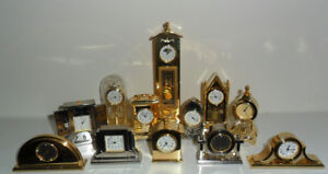 The Diamond Collection of Gold and Silver Miniature Clocks