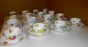 Shelley China Cups & Saucers