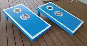 Blue Jays Handcrafted Cornhole Bean Bag Toss Game Kitchener / Waterloo Kitchener Area image 4