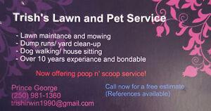 Poop scooping service