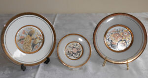 JAPANESE COPPER ETCHED DECORATIVE PLATES