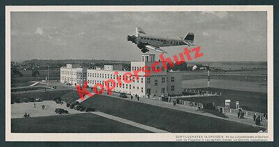 Flughafen Dresden Klotzsche Junkers Ju 52 D-AJAN Lufthansa DLH Luftfahrt 1938