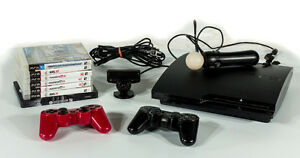 PS3 - 320GB + 6 games + Controllers, camera and more...